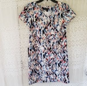 The Limited Watercolor Mini Shift Dress Size XSP